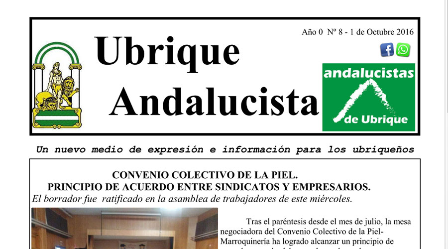 Photo of Boletín Ubrique Andalucista nº 08 (01 Oct. 2016)