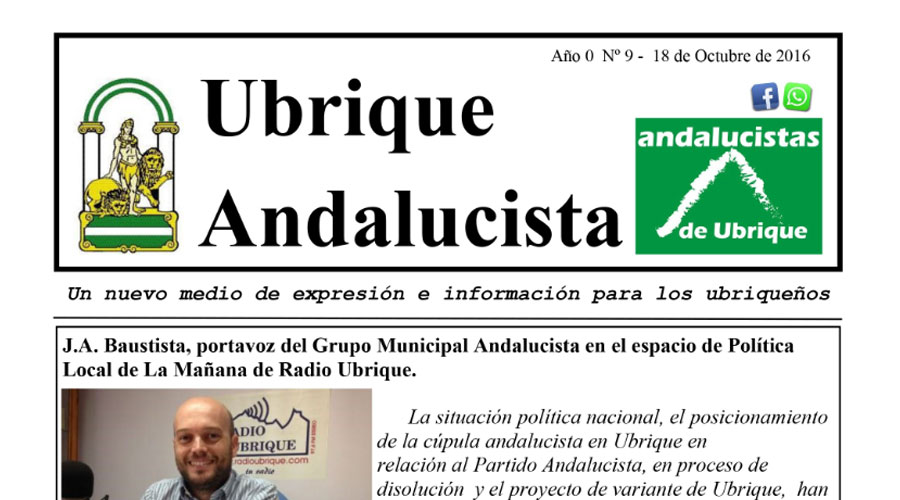 Photo of Boletín Ubrique Andalucista nº 09 (18 Oct. 2016)