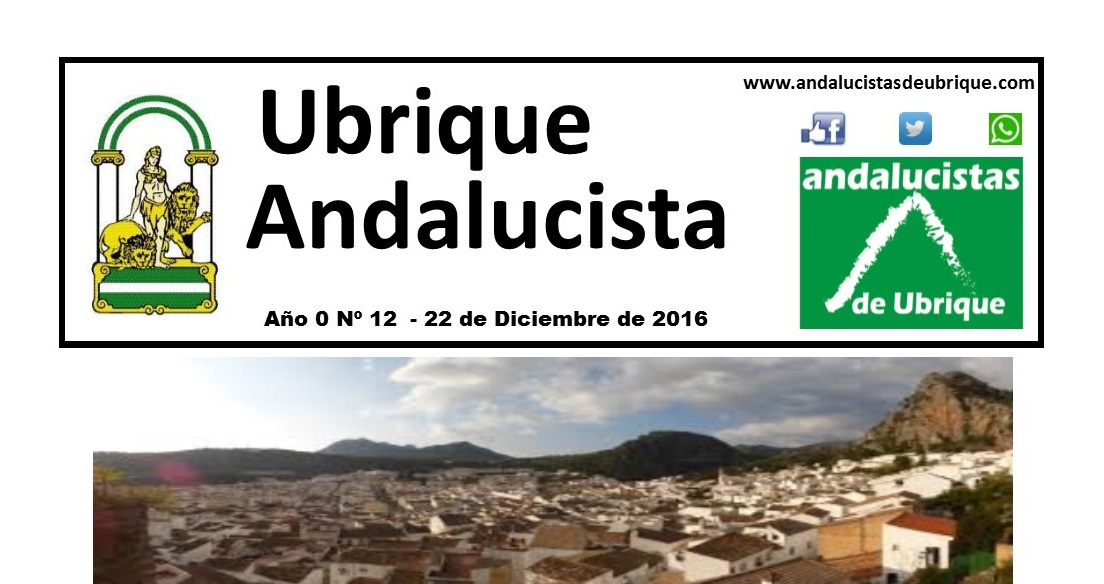 Photo of Boletín Ubrique Andalucista nº 12 (23 Dic. 2016)
