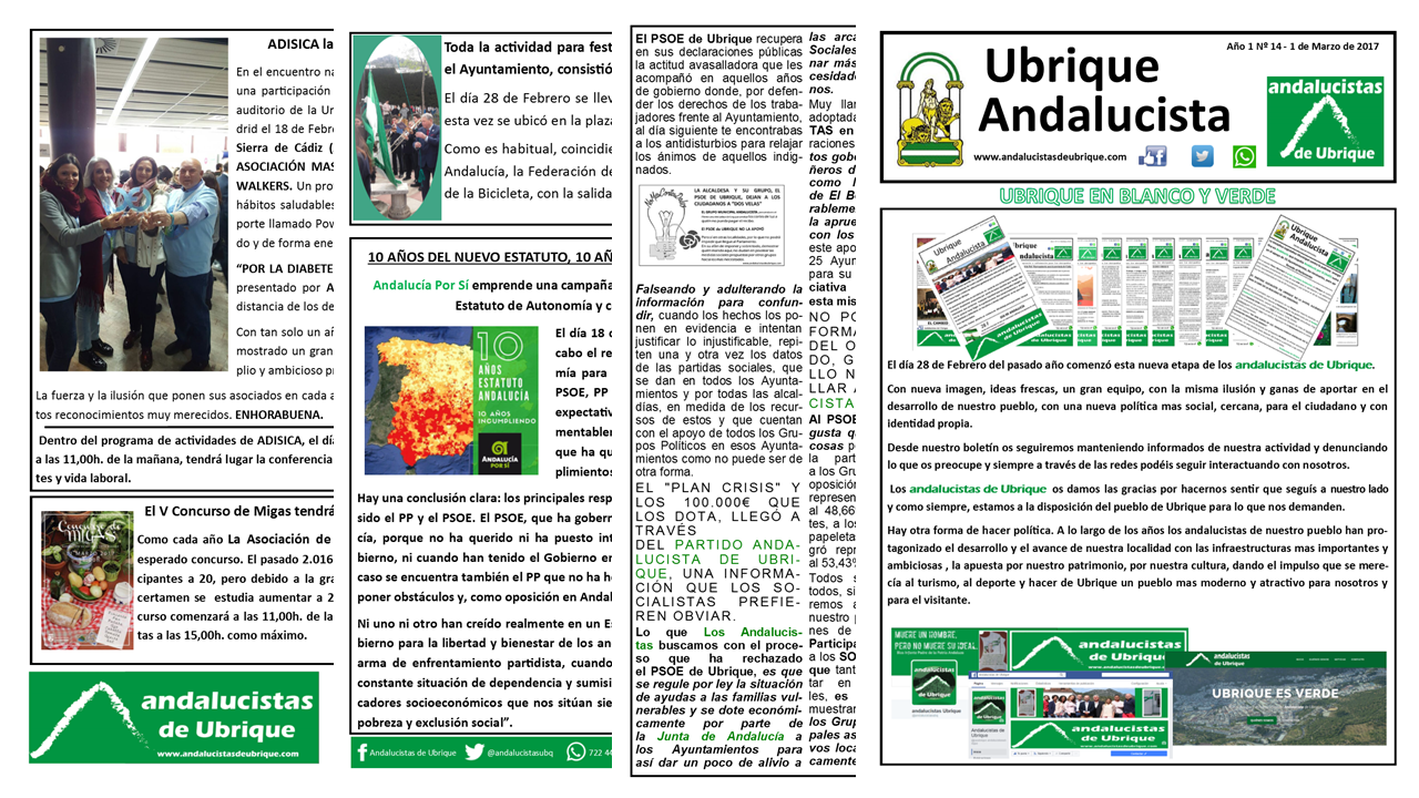 Photo of Boletín Ubrique Andalucista nº 14 (1 Mar. 2017)