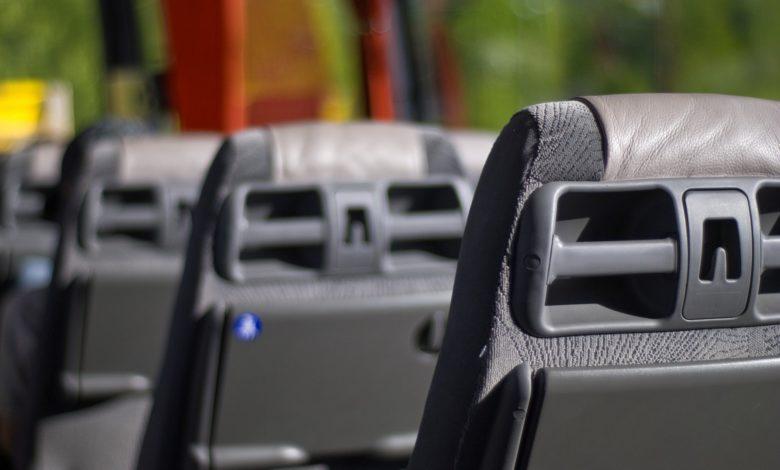 sillones de un autobús