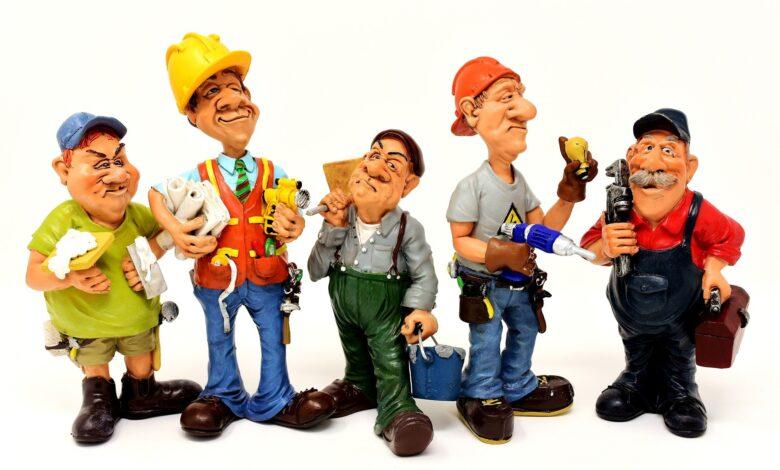cinco obreros