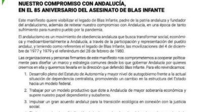 Photo of presentación del manifiesto compromiso con andalucía